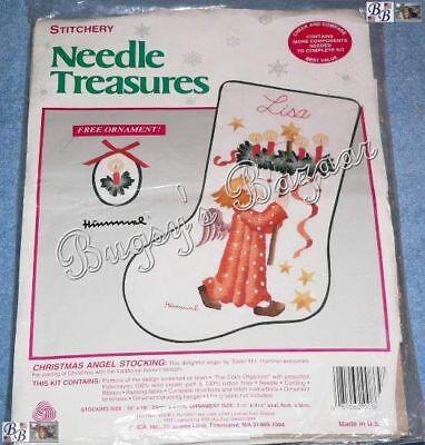 Advent Wreath Craft (JCA Hummel CHRISTMAS ANGEL STOCKING w Advent Wreath Crewel Christmas Kit -)