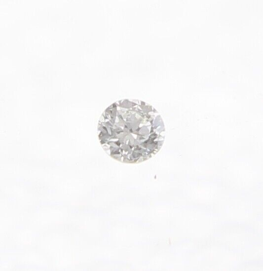 0.01+Carat+K+Color+Round+Brilliant+Enhanced+Natural+Loose+Diamond+For+Ring+1.54m