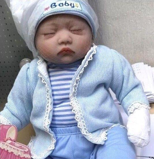 Sleeping Reborn Doll Silicone Boy Baby Lifelike Toddler Newborn Dolls Xmas Gifts