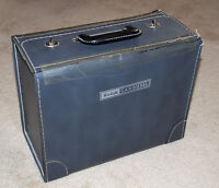 leather carrying case for Kodak slide projector plus accessories