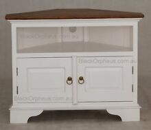 Corner TV Cabinet, White, Timber. Melbourne Region Preview