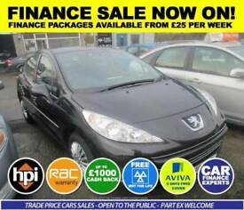 Peugeot 207 1.4 tive 5dr Good / Bad Credit Car Finance (black) 2011