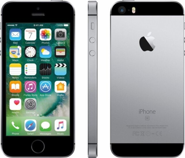 $193.99 - Brand New AT&T Prepaid Apple iPhone SE 4G LTE 32GB Smartphone - Space Gray