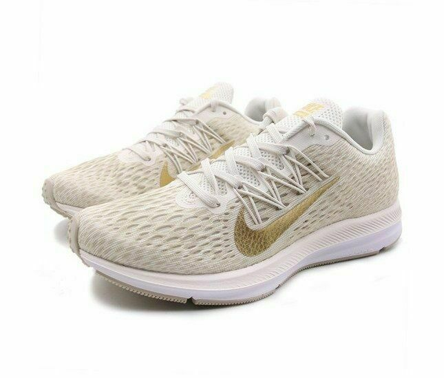 Nike Women's Zoom Winflo 5 Running Shoes Phantom Gold White