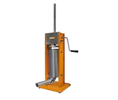 Commercial Grade 11 lb. Vertical Manual Sausage Meat Stuffer Press, Steel -