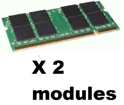 2GB PC2700 DDR LAPTOP MEMORY 333 mhz SODIMM RAM NOTEBOOK =) 2 x 1gb  KINGSTON