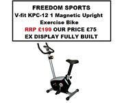 🎄V-fit KPC-12 1 Magnetic Exercise Bike (EX DISPLAY FULLY BUILT) RRP £199.99🎄