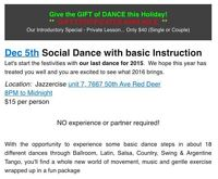 Instructional Social Dance