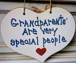 Grandparents Are Very Special People Wall Hanging Art