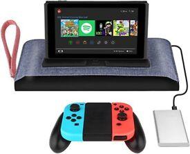 Simptech Nintendo Switch Carry Bag Case Built-In Charging Dock Joy-Con Grip Holder