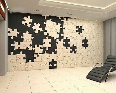 *Puzzle* 3D Decorative Wall Panels 1 pcs ABS Plastic mold for Plaster
