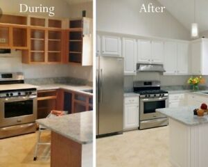 Custom kitchen cabinet and kitchen cabinet refacing service