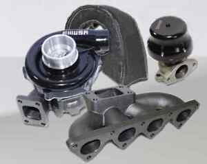 Black T3T4 Turbo kit for 88-00 Civic B16B18