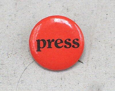 Vintage Pin Back --- Press
