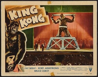 KING KONG FILM POSTER VINTAGE LOBBY CARD MOVIE POSTER 1933
