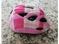 Childs girls bicycle bike helmet safety 45-50cm