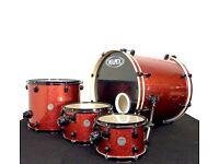 Mapex Meridian Burgundy Sparkle Drum Kit