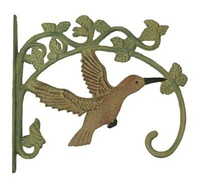 2 Hummingbird Cast Iron Plant Hangers Bird Feeders Yard Garden Home Decor Birds