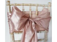 Rose Gold Satin chair sashes