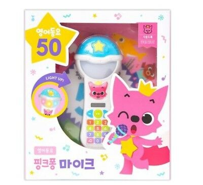 Pinkfong Wireless Mike Microphone Popular 50 English Songs Toy Book Korea