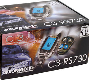 Autopage C3-RS730 2-Way LCD Remote Start Car Alarm System 4 Channel Brand New