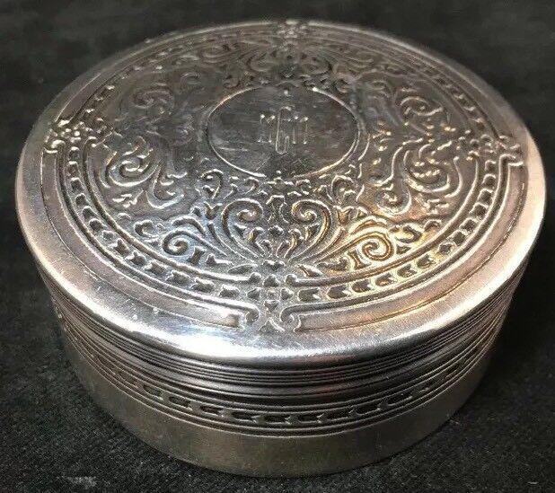 Tiffany Sterling Silver Dresser / Trinket Jar / Box Acid Etched