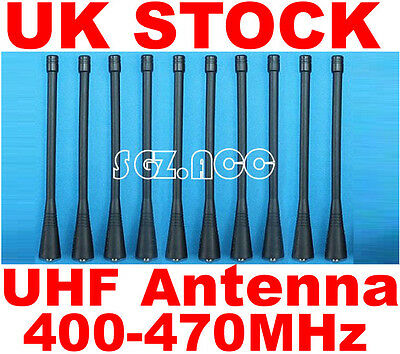 10x UHF Antenna For Motorola Radio GP68, GP88, GP88S, GP328, GP338 GP338 PLUS,