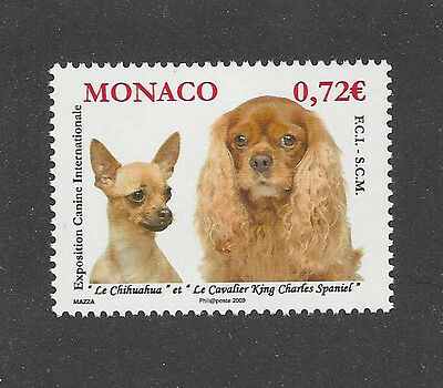 Dog Photo Head Postage Stamp CAVALIER KING CHARLES SPANIEL CHIHUAHUA Monaco - Spaniel Postage Stamp