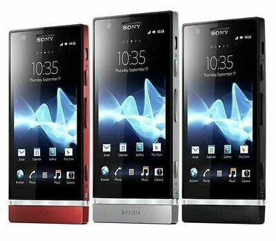 """Sony Xperia P LT22i 3G 16GB AT&T Unlocked Smartphone Black 4.0"""" 8MP"""