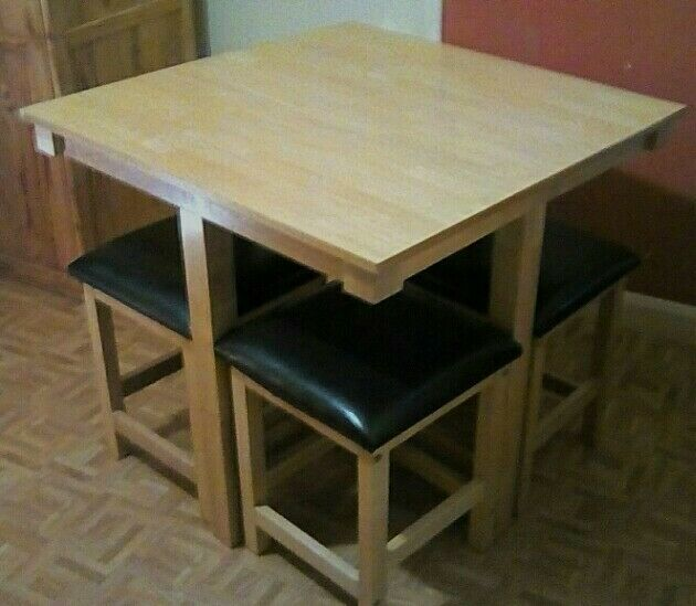 Gentil Space Saver Dining Table Set