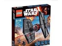LEGO Star Wars First Order TIE fighter (75101) UNOPENED, 2015 (Price on Amazon £84.99)