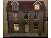 Dolls house with or without furniture