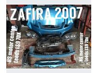 Vauxhall Zafira 2007 full front, bumper, bonnet, radiator including everything of front,