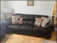 Real leather sofas 3+2 QUICK SALE-FREE DELIVERY