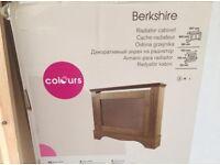 Oak finish radiator cover - brand new in box