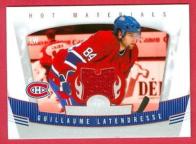 07 Hot Prospects Materials - 2006-07 HOT PROSPECTS HKY Guillaume Latendresse HOT MATERIALS JERSEY CARD #HM-GL
