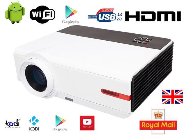 5000 Lumen Multimedia LED Home Cinema 1080p Full HD Projector Video HDMI USB VGA