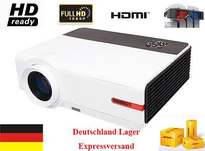 3D 5000 Lumen 1080P Full HD HDMI TV 10000:1 Video Projektor HD LCD LED Beamer DE