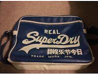Blue Superdry cross body bag