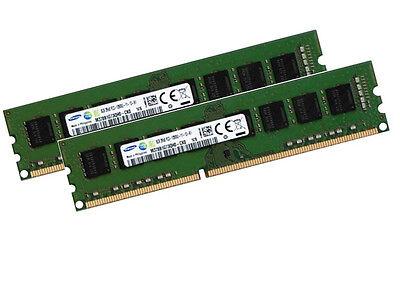 2x 8GB 16GB Samsung RAM Speicher DIMM DDR3 1600 Mhz 240 pin PC3-12800U Desktop d'occasion  Expédié en Belgium