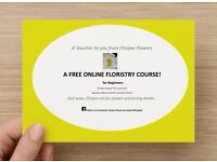 FREE! A Online Floristry course for complete beginners