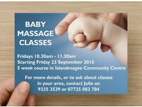 Baby massage in Larne / Carrick areas