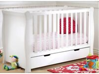 4baby cot/day bed. BRAND NEW includes mattress
