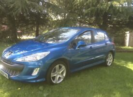 """2009 PEUGEOT 308 1.6 HDI SPORT MOTD TO JANUARY 17"""" ALLOYS DRIVES FIRST CLASS"""