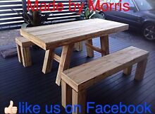 New rustic table and bench seats Highland Park Gold Coast City Preview
