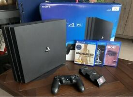 PS4 Pro 1TB With 3 games + Pad