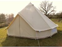 Stunning 4m canvas bell tent for hire in London