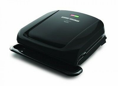 George Foreman GRP1060B 4 Serving Removable Plate Grill, Black, New