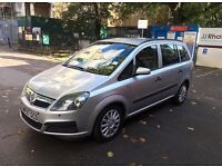 VAUXHALL ZAFIRA AUTOMATIC 2007 1.8 PETROL 5DR 7 SEATER SILVER LOW MILES