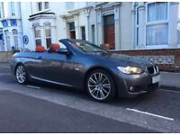 BMW 320D CONVERTIBLE E93 RED LEATHER SAT NAV M SPORT AUTOMATIC